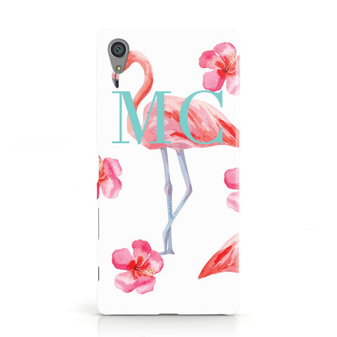 Personalised Initials Flamingo 3 Sony Xperia Case