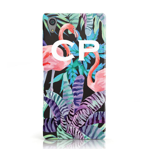 Personalised Initials Flamingos 4 Sony Xperia Case