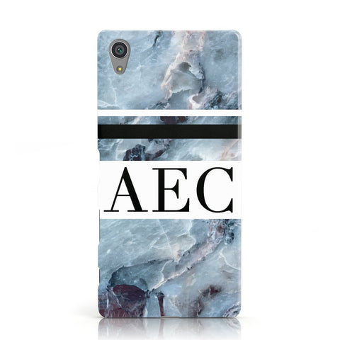 Personalised Initials Marble 9 Sony Xperia Case