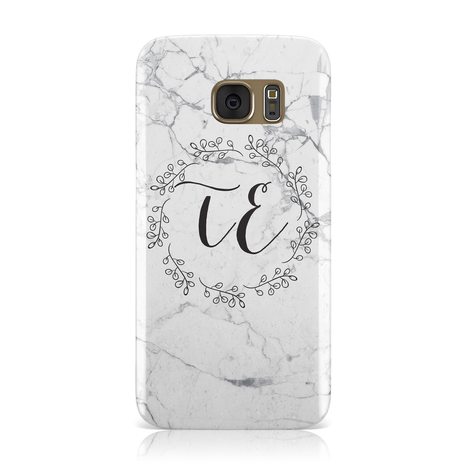 Personalised Initials Marble Samsung Galaxy Case