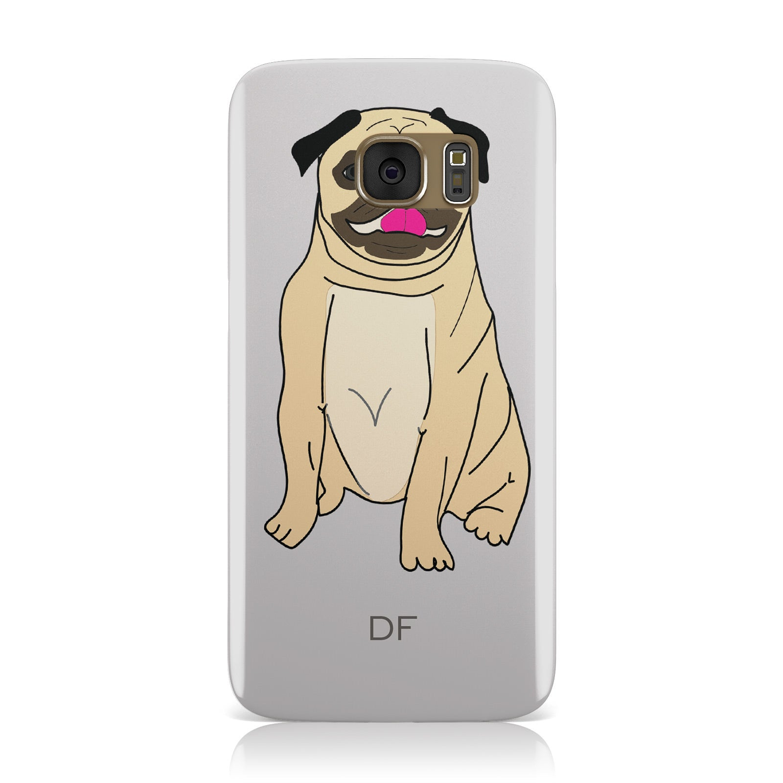 Personalised Initials Pug Samsung Galaxy Case