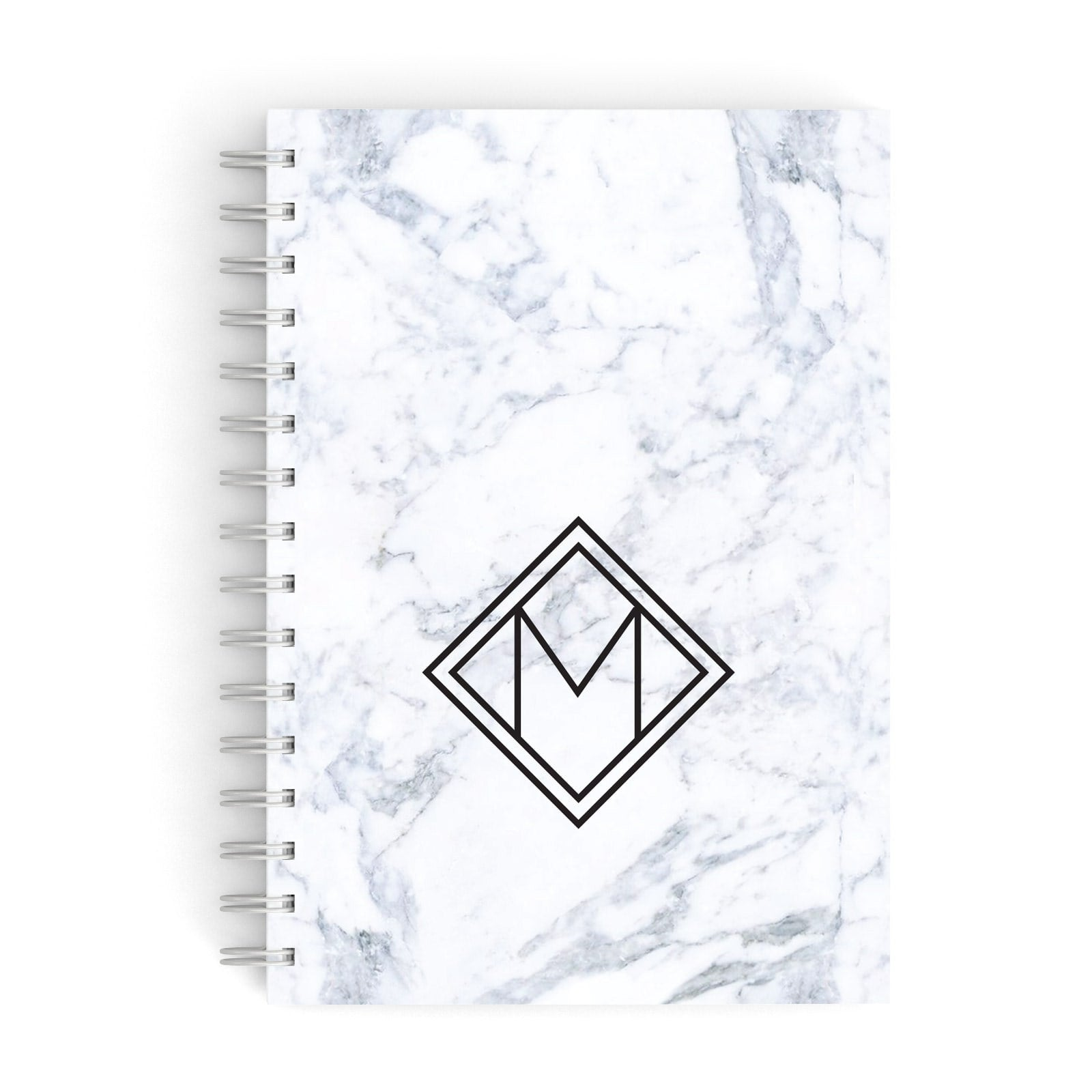 Personalised Marble Customised Initials A5 Hardcover Notebook
