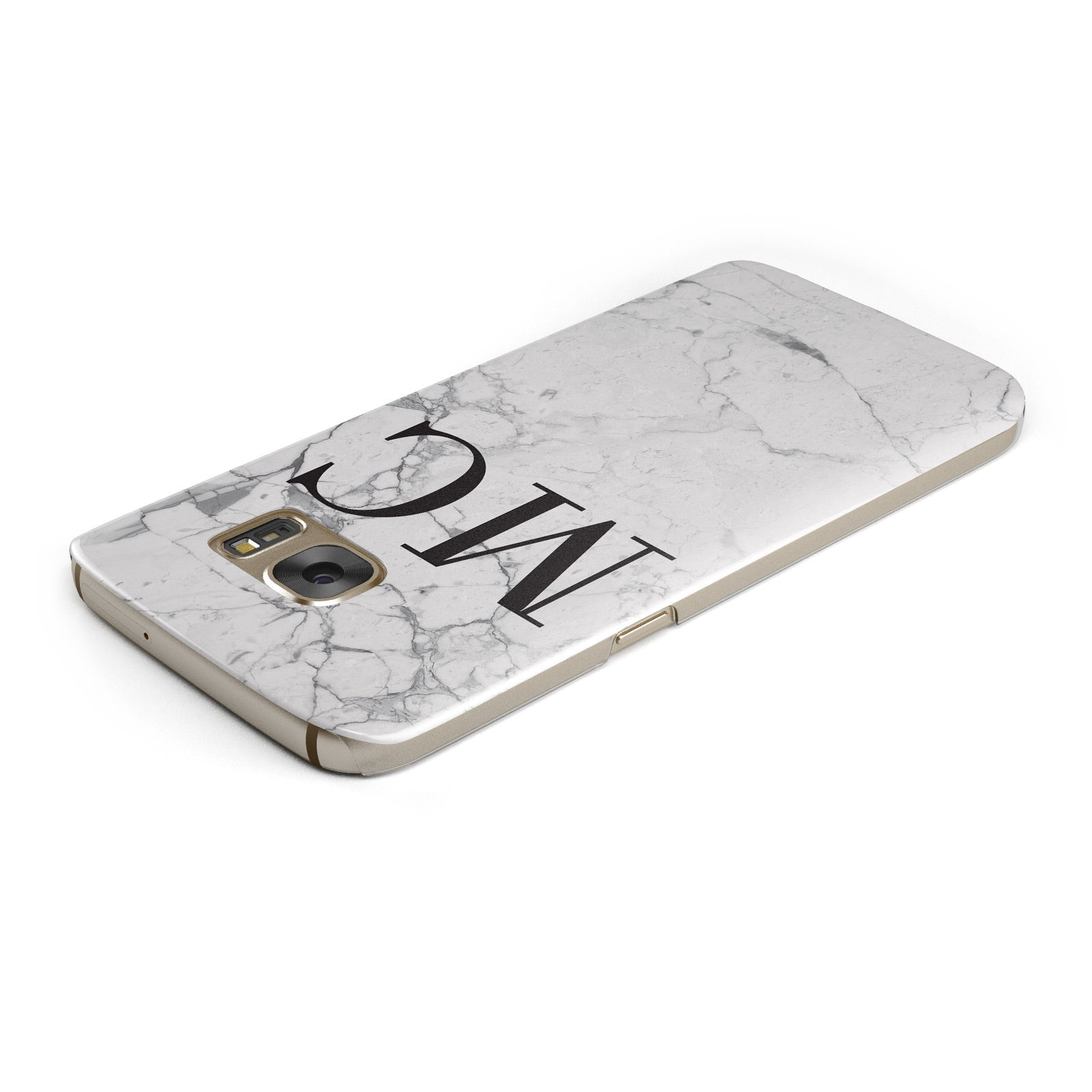 Personalised Marble Initials Samsung Galaxy Case Top Cutout