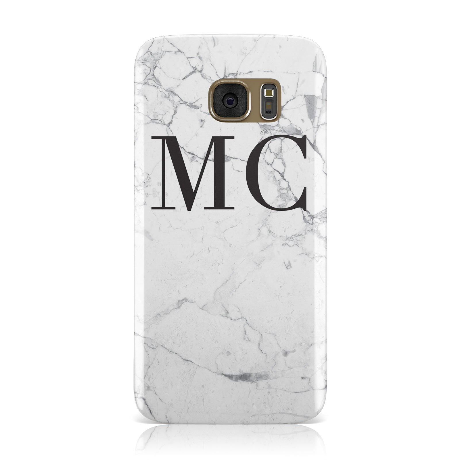 Personalised Marble Initials Samsung Galaxy Case