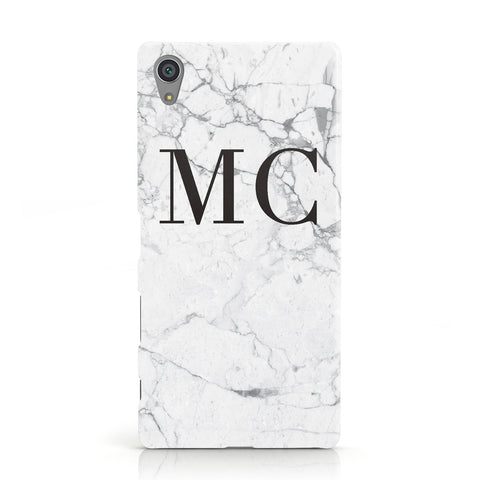 Personalised Marble Initials Sony Xperia Case