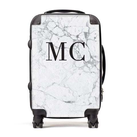 Personalised Marble Initials Suitcase