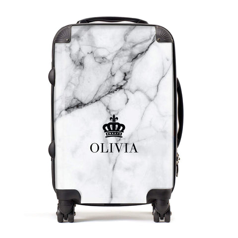 Personalised Marble Name Crown Suitcase