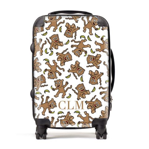 Personalised Monkey Initials Suitcase