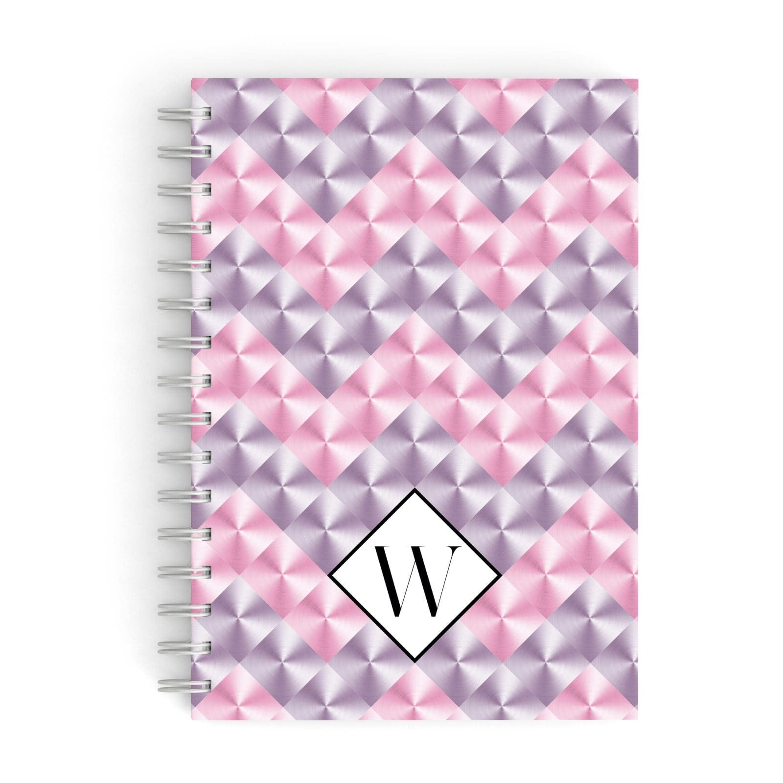 Personalised Mother Of Pearl Monogram Letter A5 Hardcover Notebook