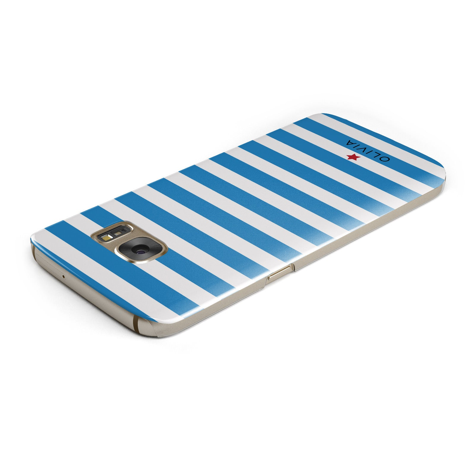 Personalised Name Blue White Samsung Galaxy Case Top Cutout