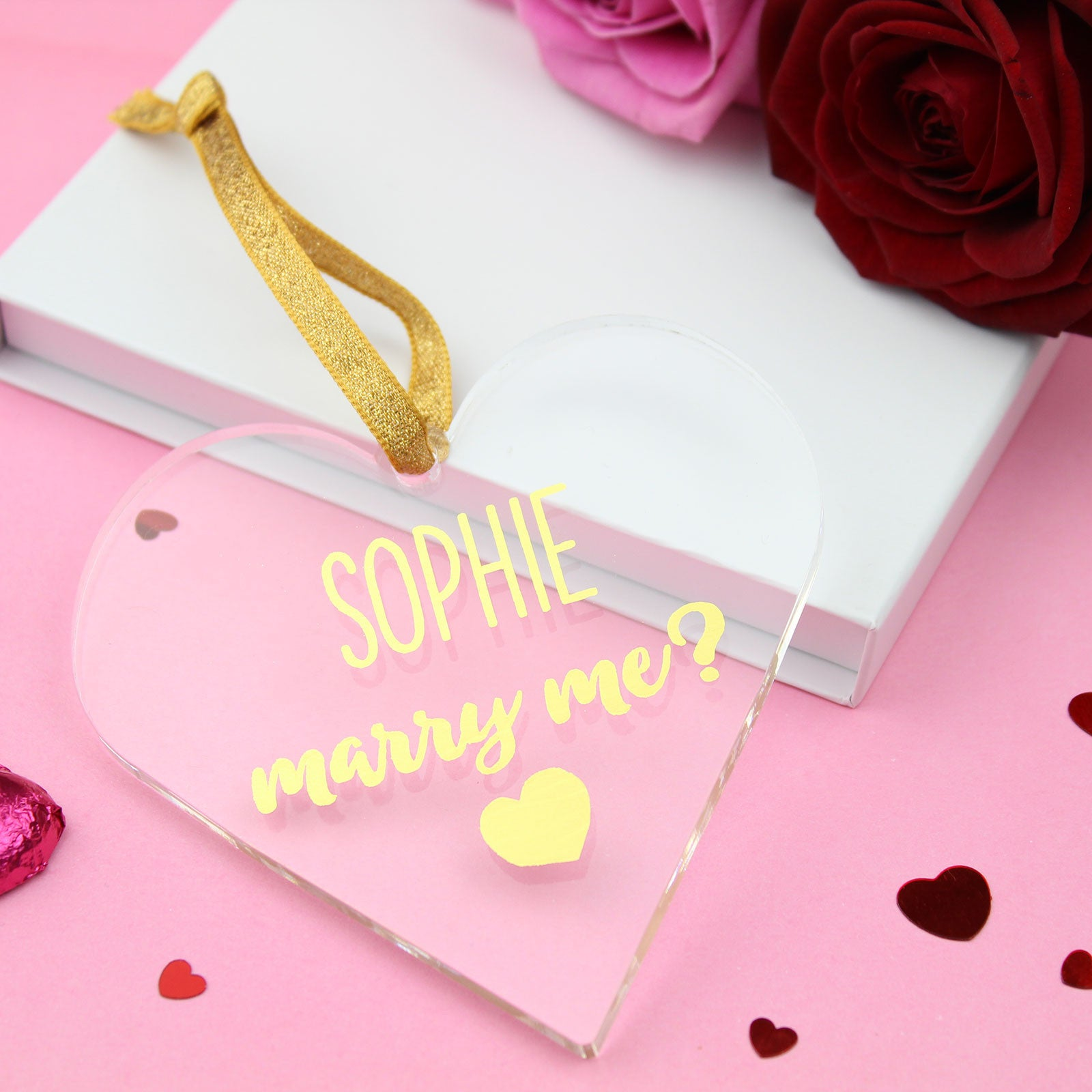 Personalised Name Marry Me Foiled Heart