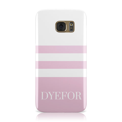 Personalised Name Striped Samsung Galaxy Case