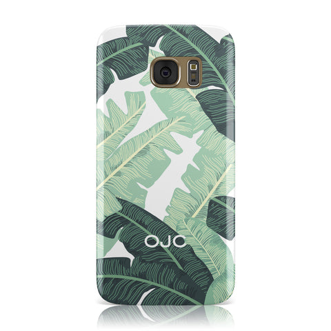 Personalised Palm Banana Leaf Samsung Galaxy Case