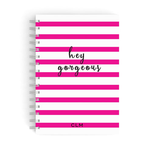 Personalised Pink Hey Gorgeous A5 Hardcover Notebook