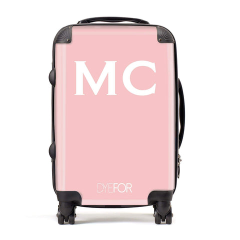 Personalised Pink Initial Suitcase