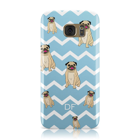 Personalised Pug Initials Samsung Galaxy Case