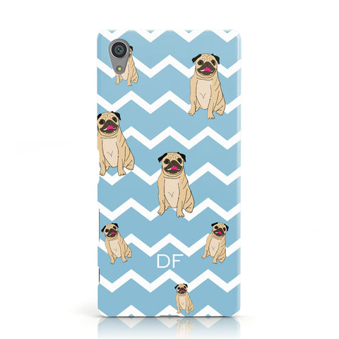 Personalised Pug Initials Sony Xperia Case