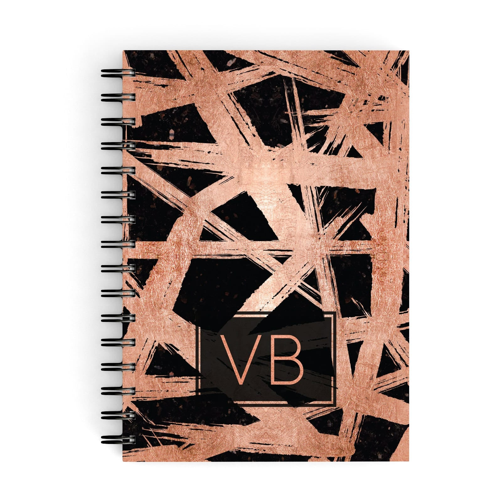 Personalised Rose Gold Effect A5 Hardcover Notebook