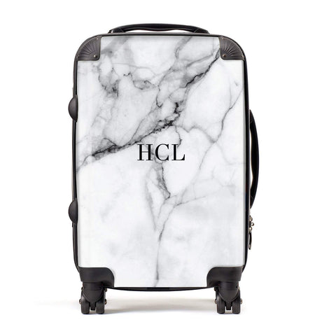 Personalised Small Marble Initials Custom Suitcase