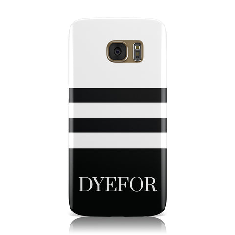 Personalised Striped Name Samsung Galaxy Case
