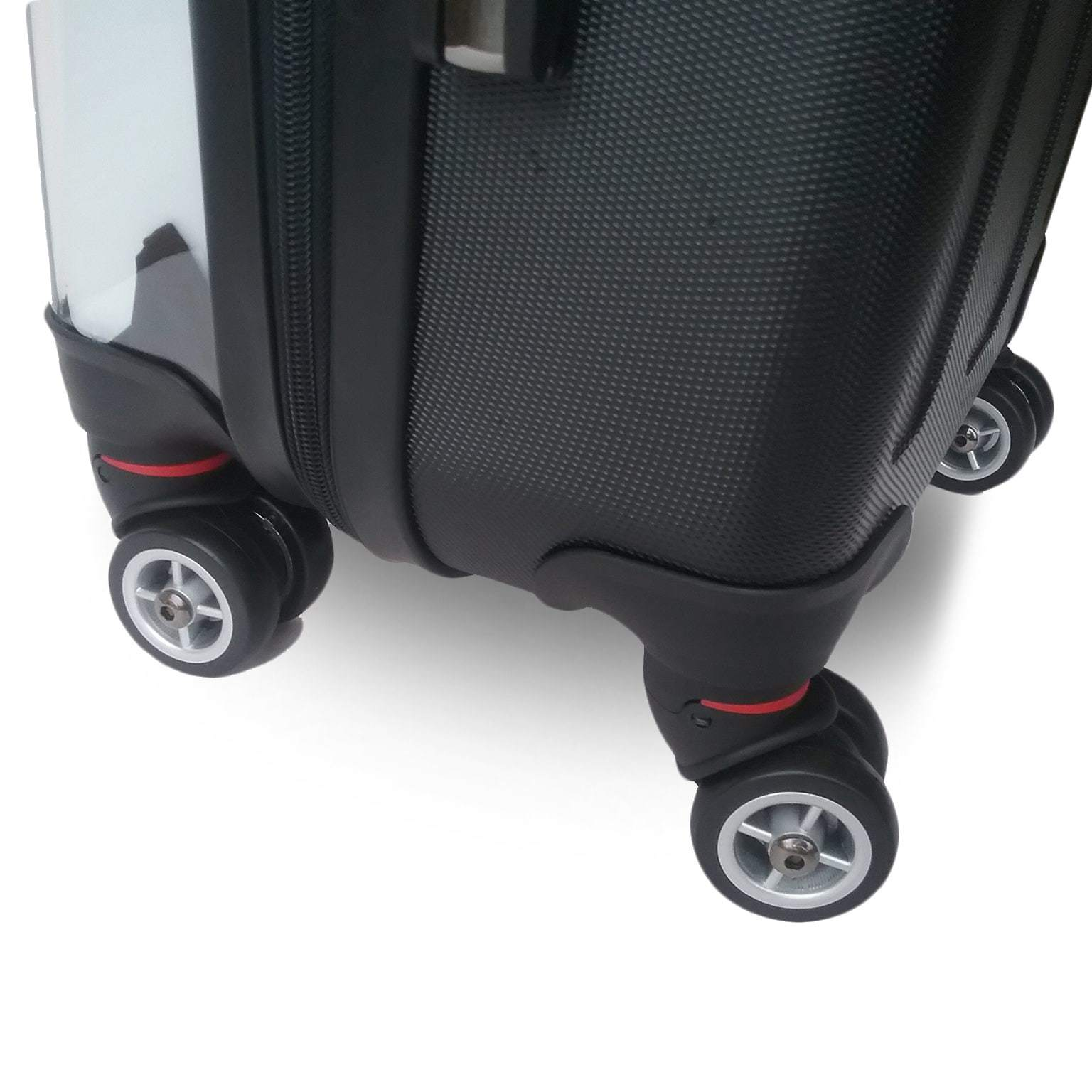 Personalised suitcase with 8 wheels