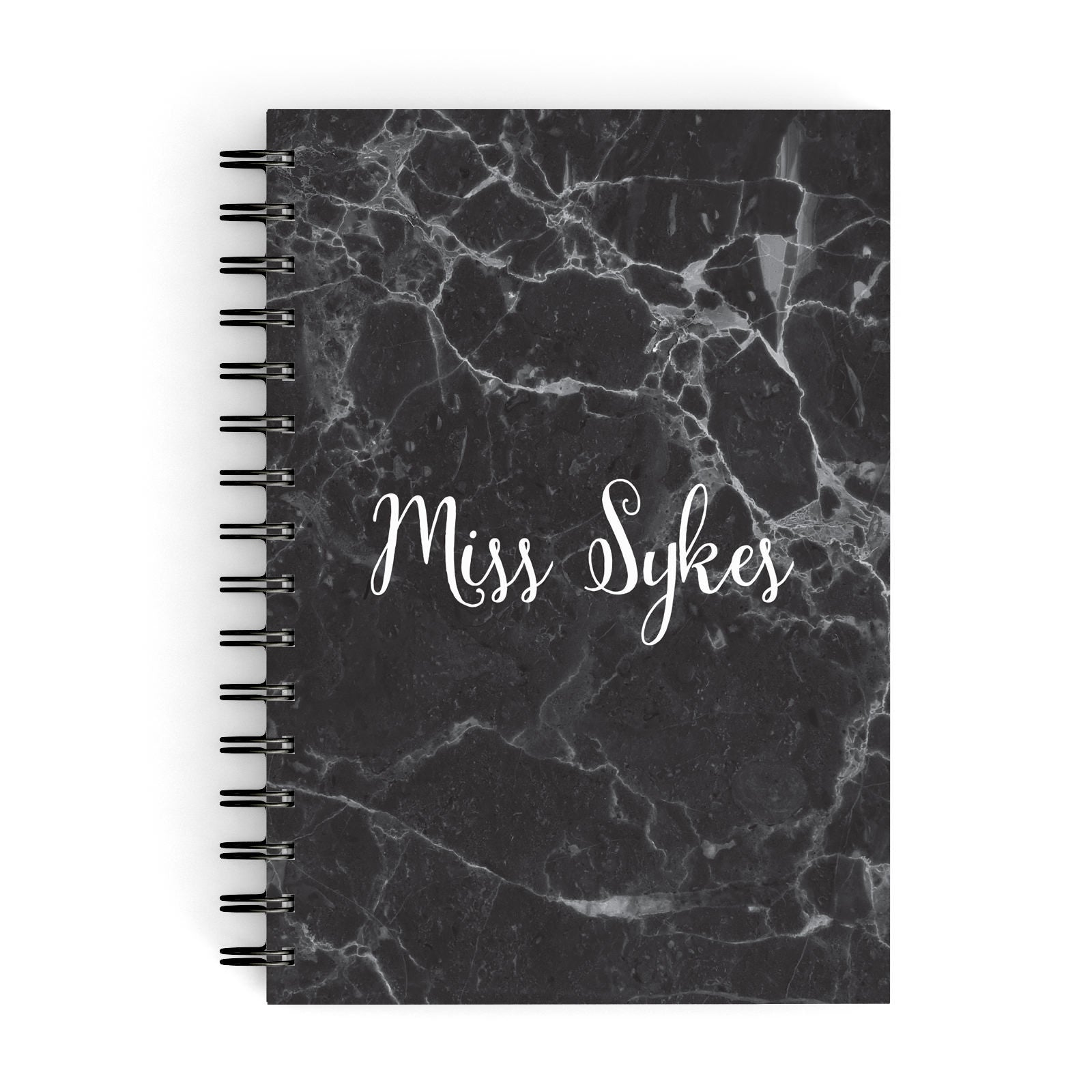 Personalised Surname Marble A5 Hardcover Notebook