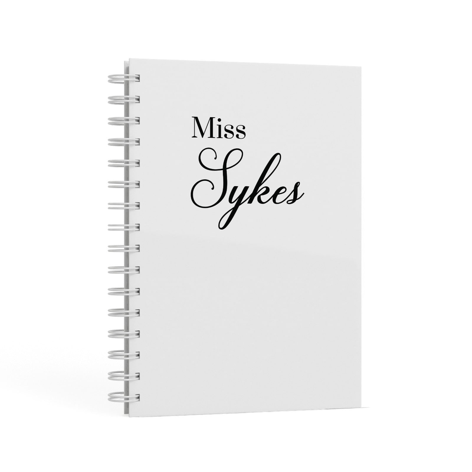 Personalised Wedding Name Miss A5 Hardcover Notebook Second Side View