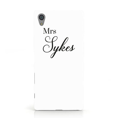Personalised Wedding Name Mrs Sony Xperia Case