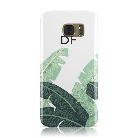 Personalised White Banana Leaf Samsung Galaxy Case