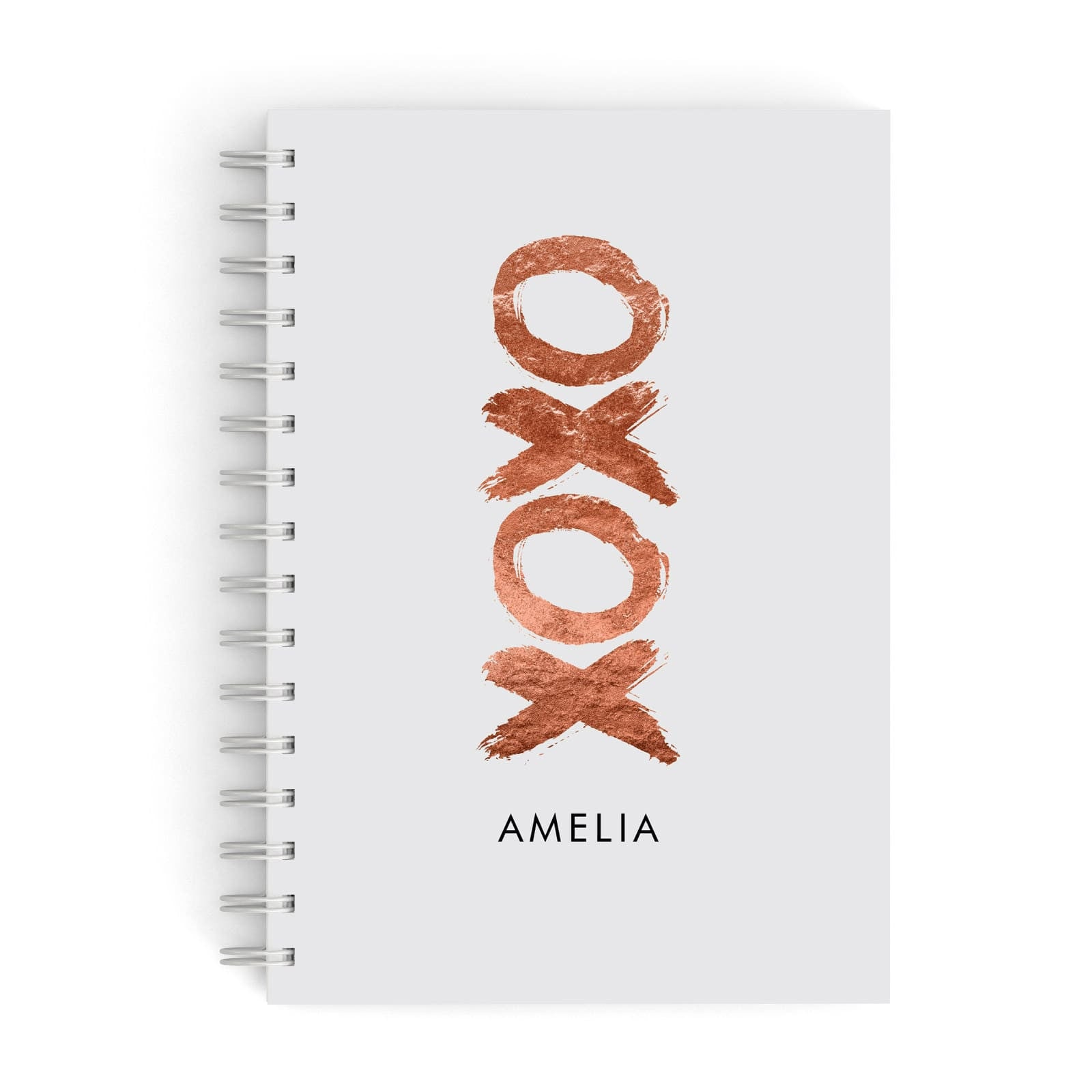 Personalised Xoxo Custom Name Or Initials A5 Hardcover Notebook