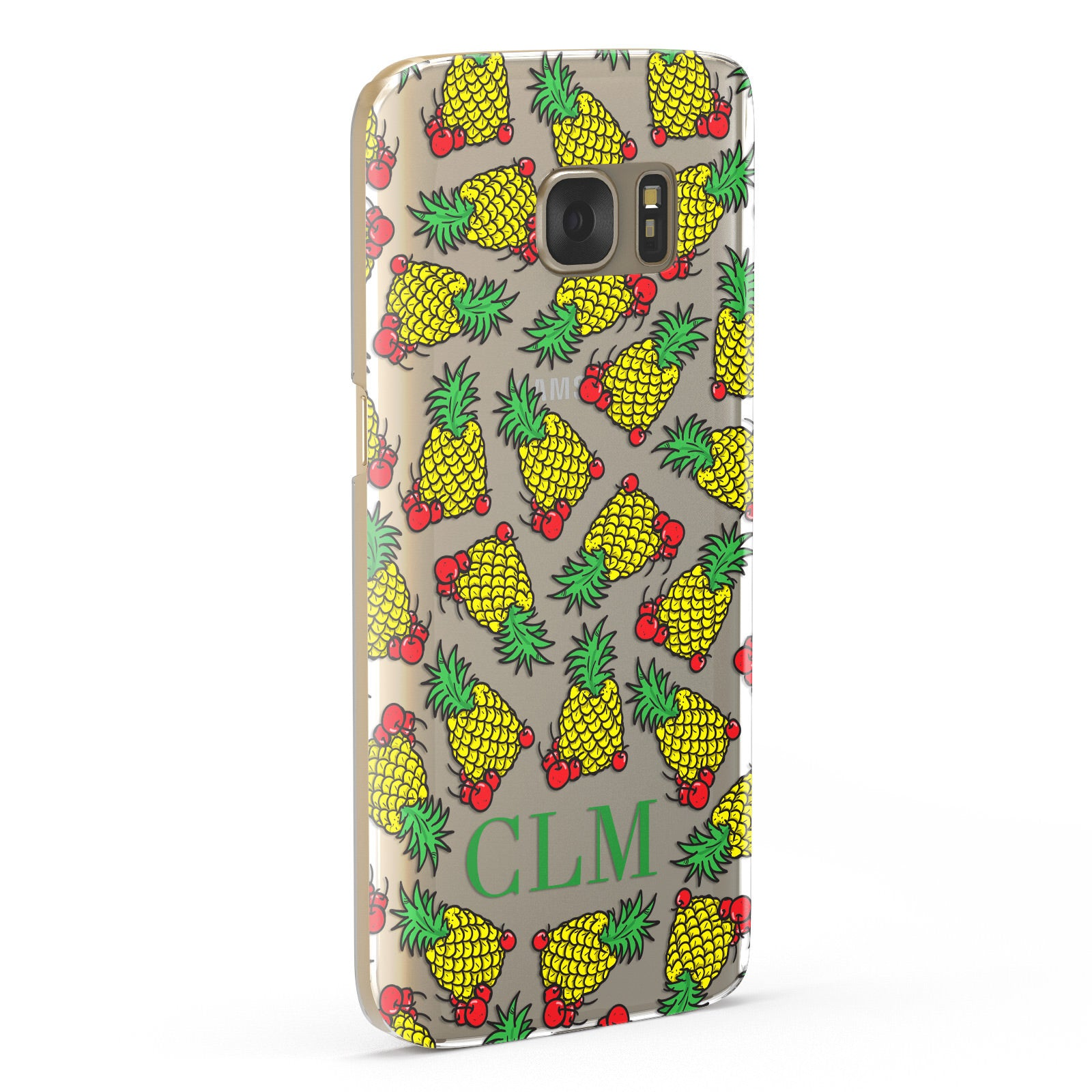 Personalised Pineapple Initials Clear Samsung Galaxy Case Fourty Five Degrees