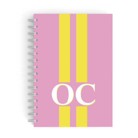 Pink Personalised Initials A5 Hardcover Notebook