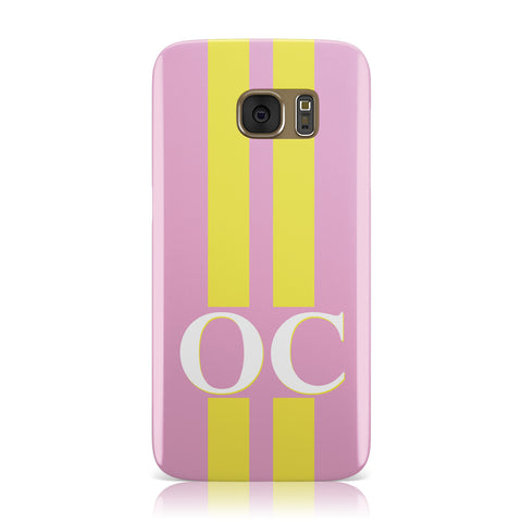 Pink Personalised Initials Samsung Galaxy Case