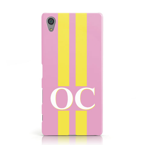 Pink Personalised Initials Sony Xperia Case