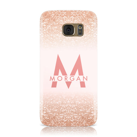 Personalised Printed Glitter Name Initials Samsung Galaxy Case