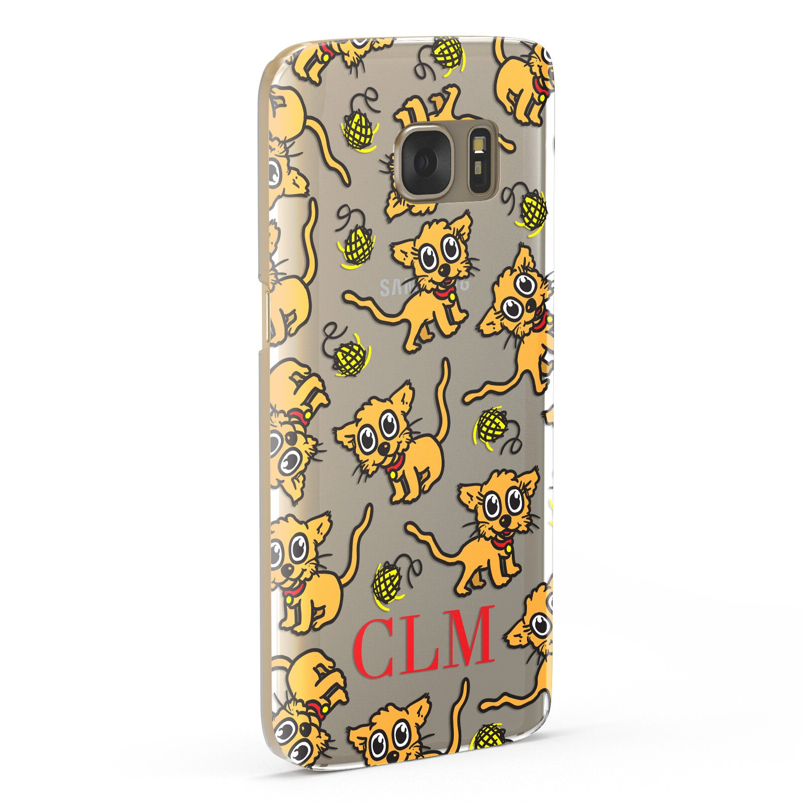 Personalised Puppy Initials Clear Samsung Galaxy Case Fourty Five Degrees