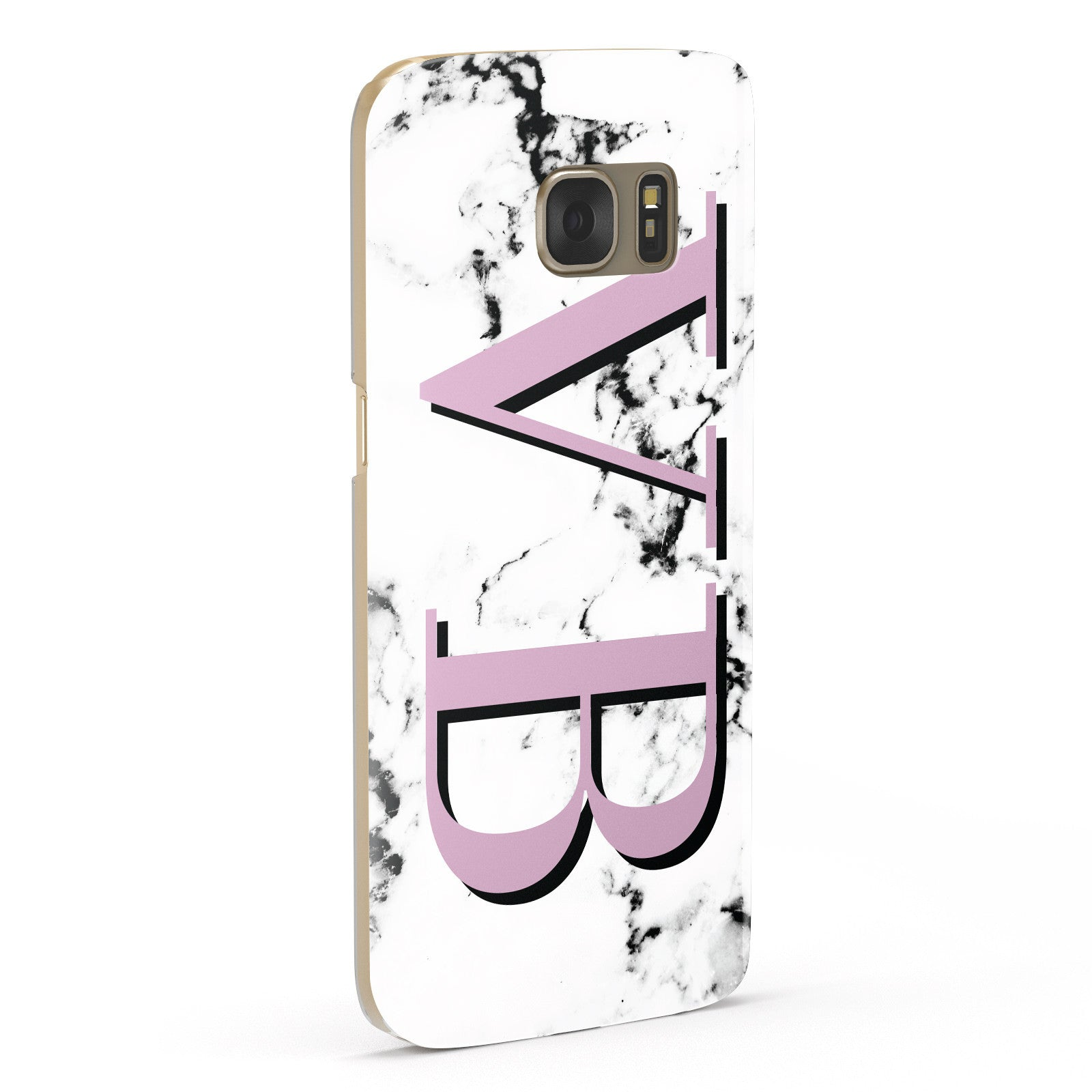 Personalised Purple Big Initials Marble Samsung Galaxy Case Fourty Five Degrees