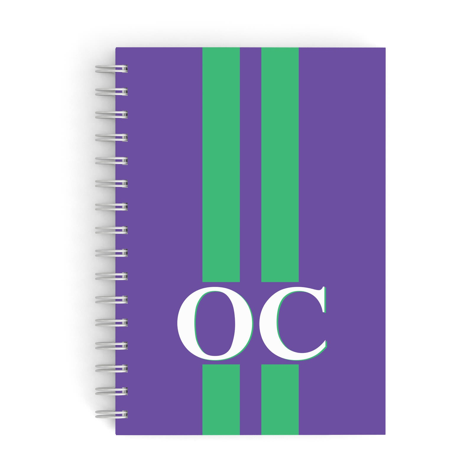 Purple Personalised Initials A5 Hardcover Notebook