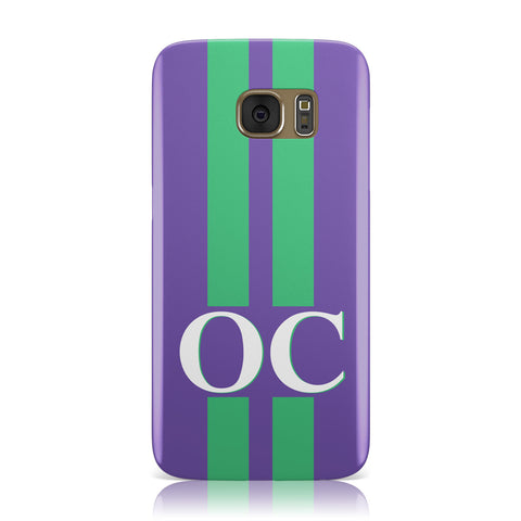 Purple Personalised Initials Samsung Galaxy Case