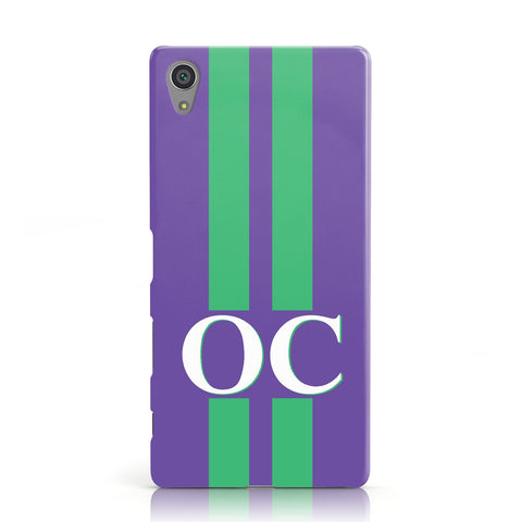Purple Personalised Initials Sony Xperia Case