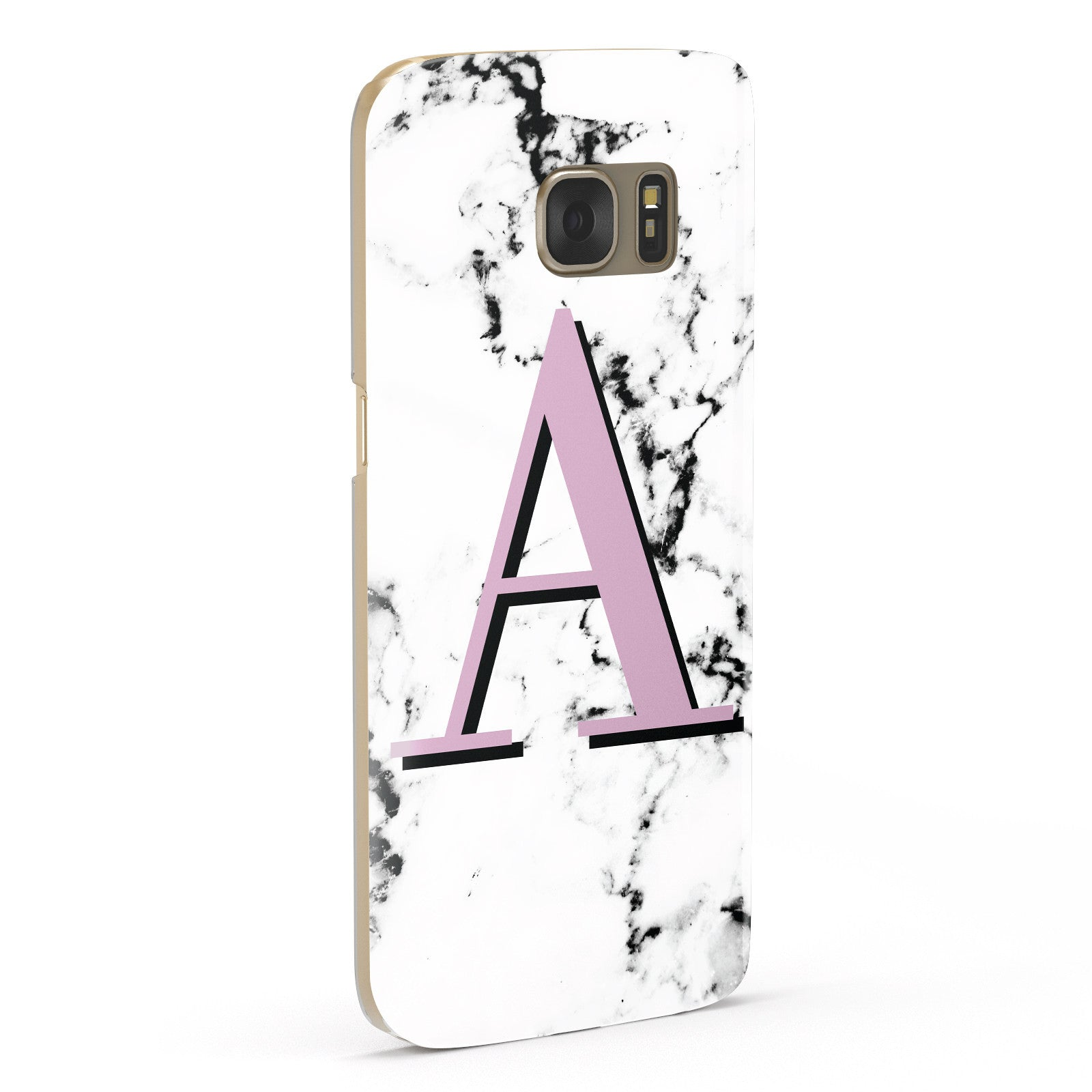 Personalised Purple Single Initial Marble Samsung Galaxy Case Fourty Five Degrees