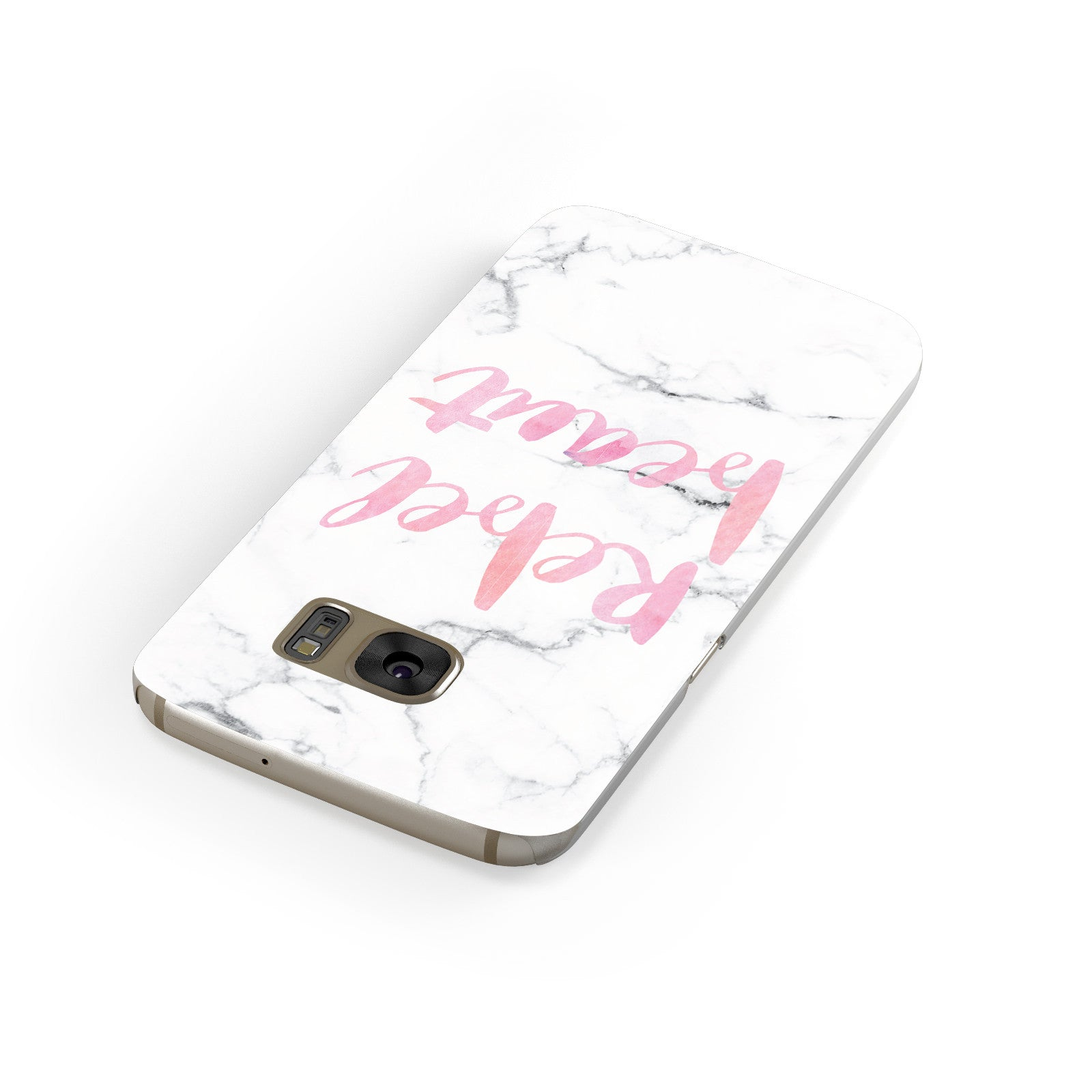 Rebel Heart Grey Marble Effect Samsung Galaxy Case Front Close Up