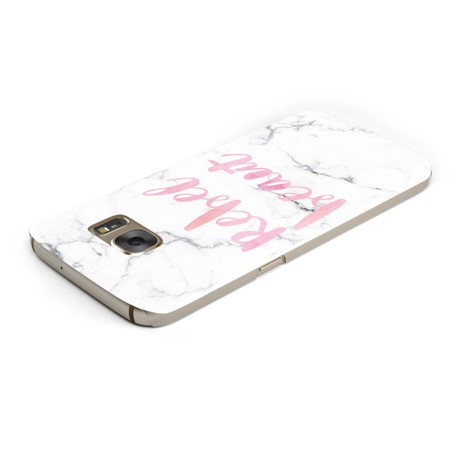 Rebel Heart Grey Marble Effect Samsung Galaxy Case Top Cutout