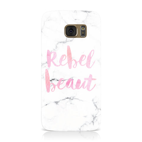 Rebel Heart Grey Marble Effect Samsung Galaxy Case