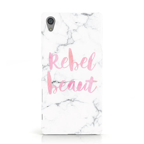 Rebel Heart Grey Marble Effect Sony Xperia Case