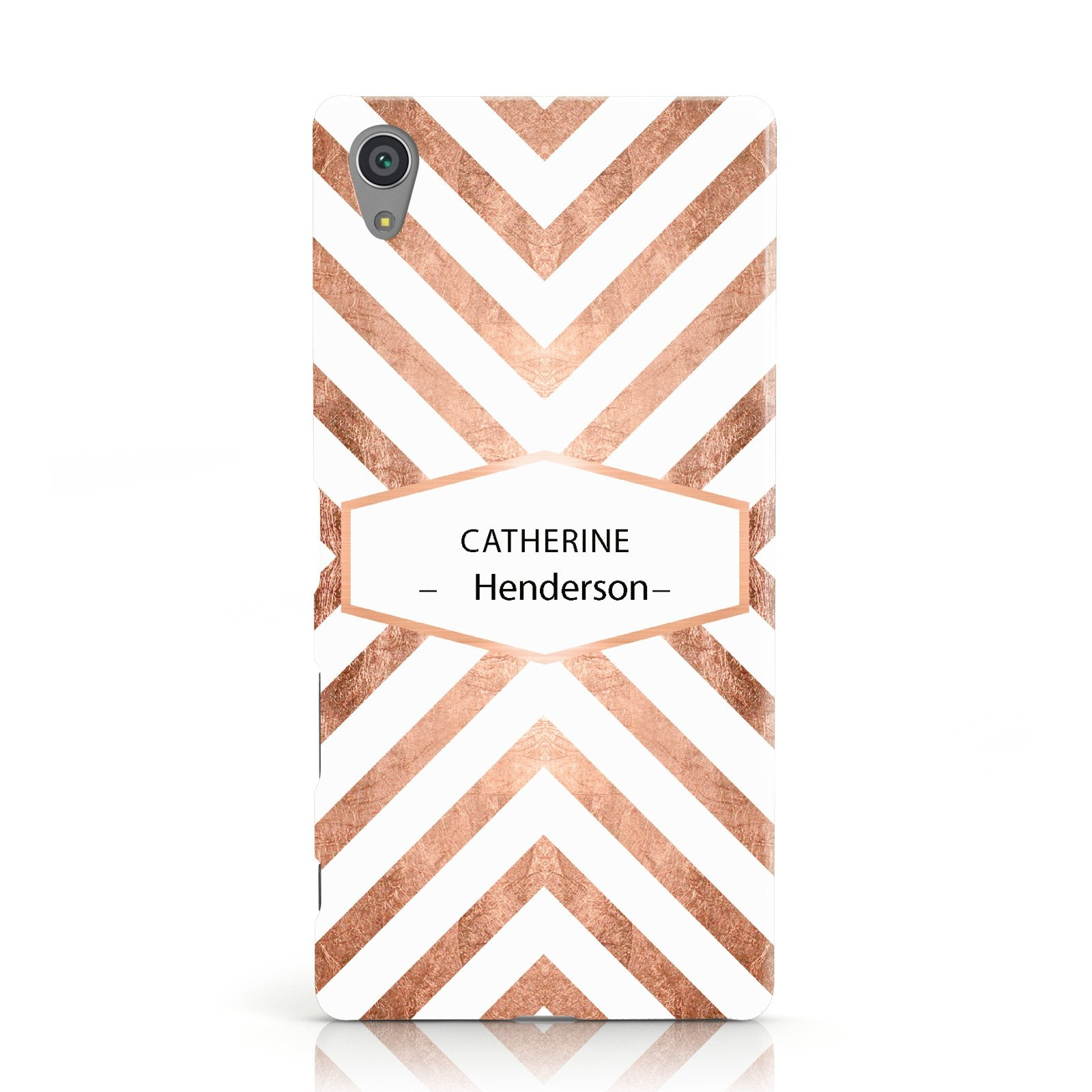 Personalised Rose Gold Name Or Initials Custom Sony Xperia Case