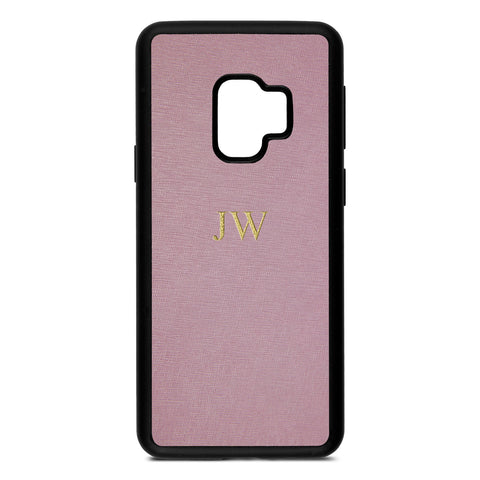 Personalised Lotus Purple Saffiano Leather Samsung Case