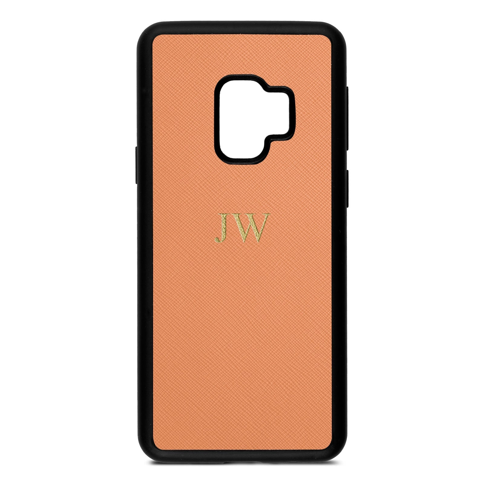 buy online 08841 5230f Personalised Orange Saffiano Leather Samsung Case