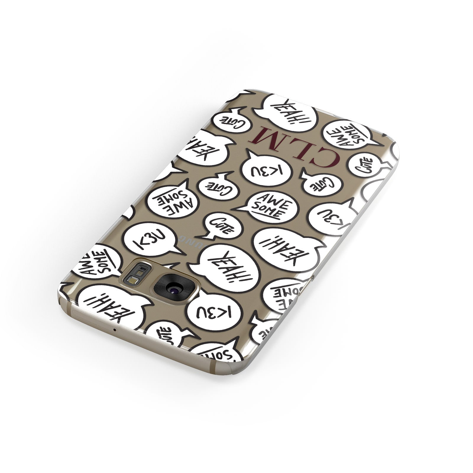Personalised Sayings With Initials Samsung Galaxy Case Front Close Up