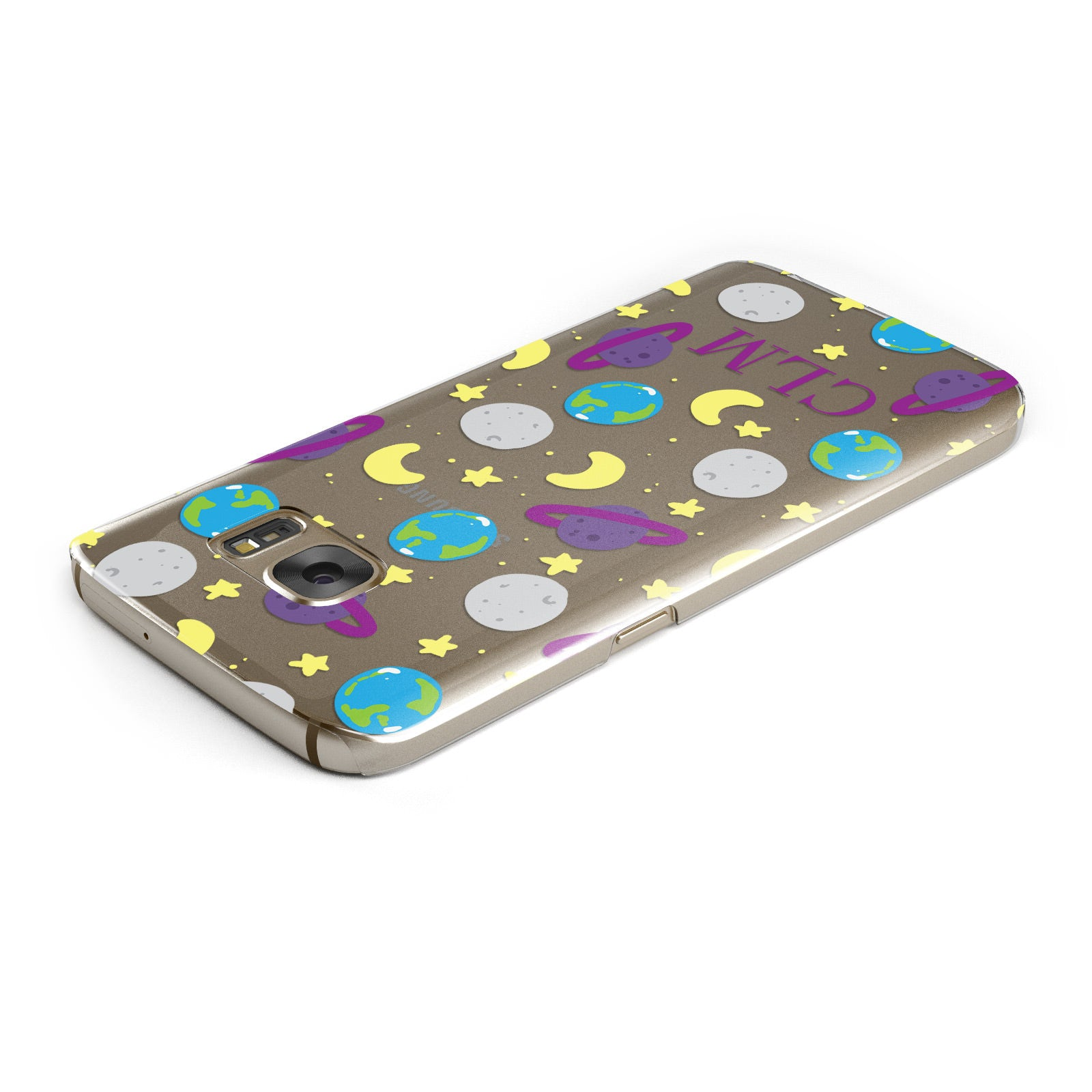 Personalised Space Initials Samsung Galaxy Case Top Cutout